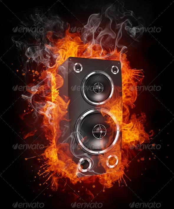 Music_Speaker_Fire_001