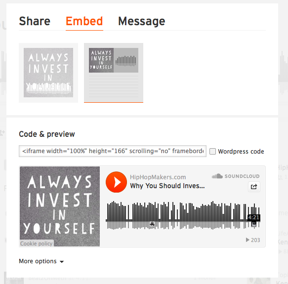 How to Embed a SoundCloud Player – Music Maker WordPress