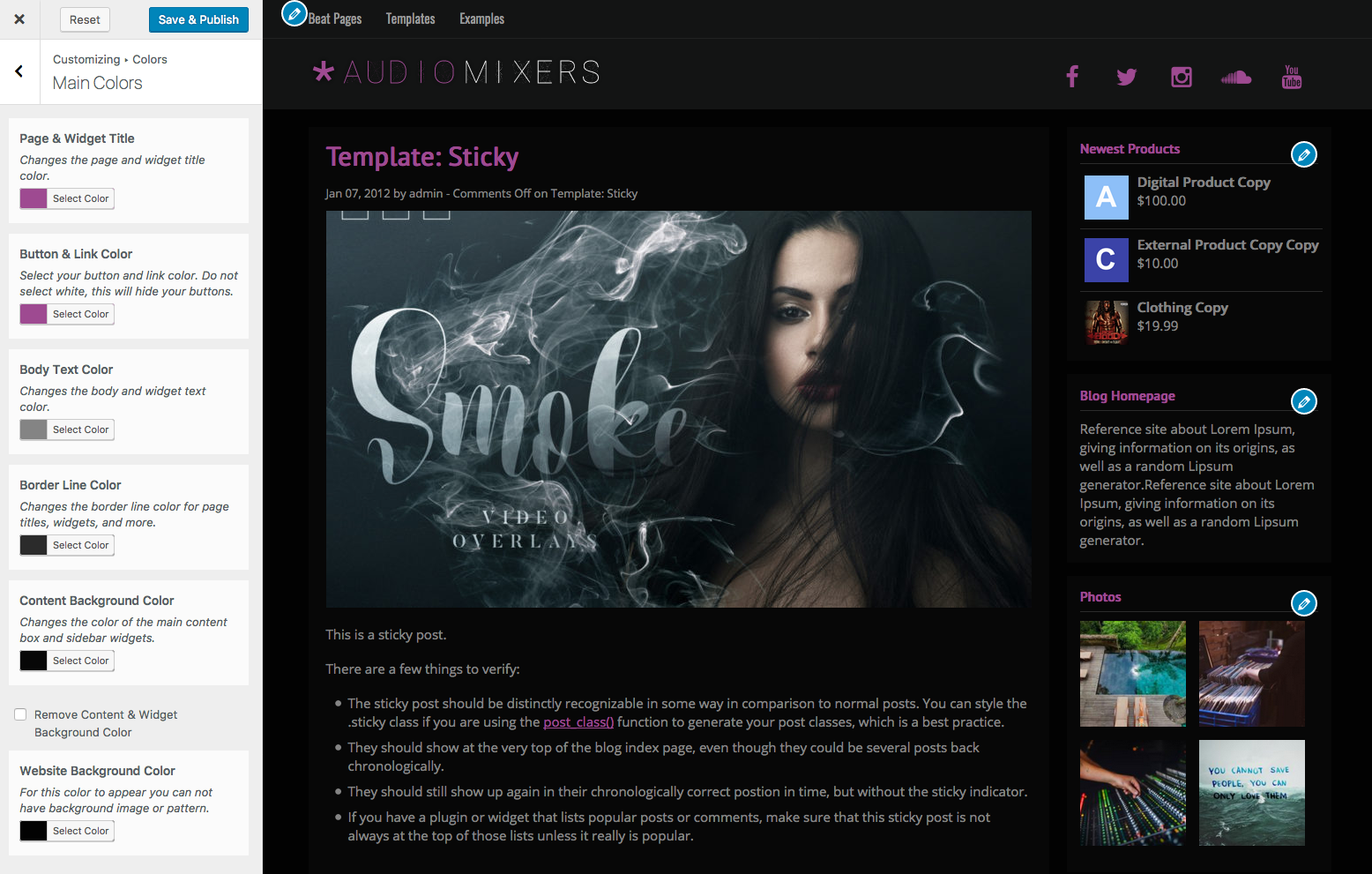 Music Maker Beat Selling WordPress Theme