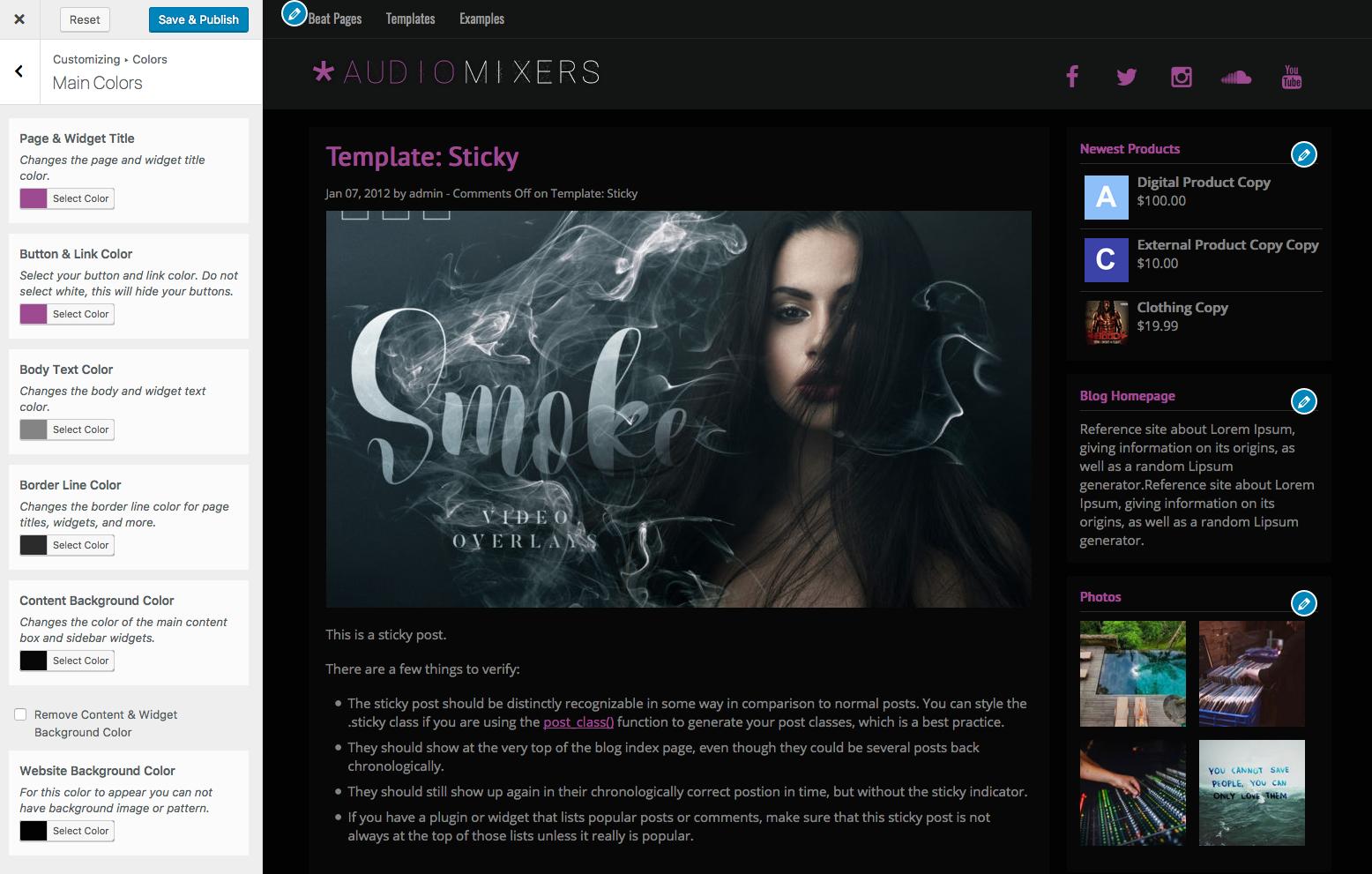 Music Maker Beat Selling WordPress Theme